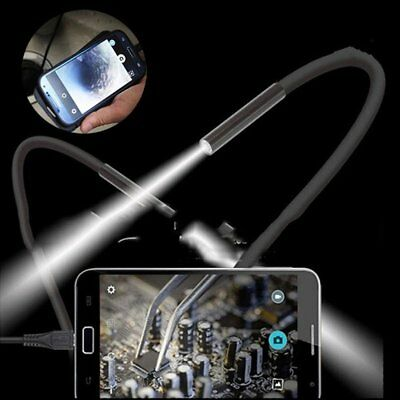 1M Android/PC 7mm Endoscope Waterproof Borescope Inspection Pipe Snake Camera
