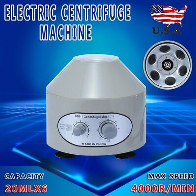 800-1 Electric Centrifuge Machine Lab Medical Practice 110V 4000 rpm 20ml x 6 US