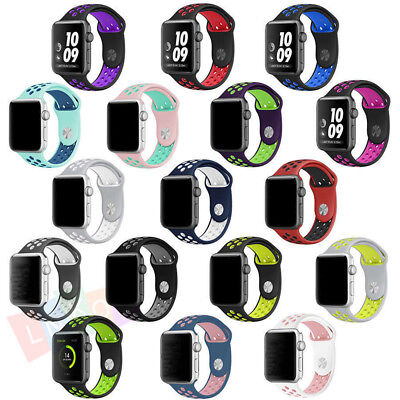 Replacement Silicone Wrist Bracelet Sport Band Strap For Apple Watch 38mm 42mm