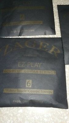 ZAGER Easy Play Acoustic Guitar Strings Pillow Touch Coated Strings BRAND NEW