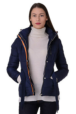 U.S. Polo Assn. Size S Women's 43169 Padded Belted Hooded Quilted Jacket