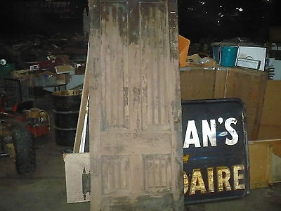 "1800's Antique Old Wooden Double Door With Hardware 95"" Tall"