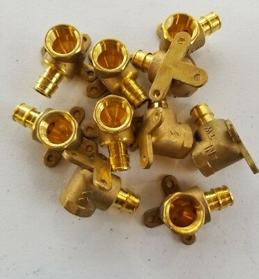 """(10 units) 1/2"""" ProPEX Drop Ear Elbows - Brass ProPEX Fittings - Expansion Fitti"""