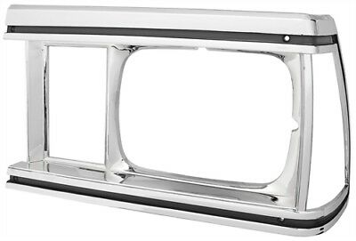 RestoParts 99L0078-LH Headlight Bezel 1981 Chevy El Camino/Malibu Chrome Finish