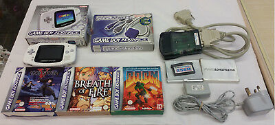 Nintendo Game Boy Advance handheld - White, boxed, working condition + 3 games