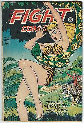 Fight Comics 49 Golden Age Fiction House Jungle 1947 Tiger Girl Senorita Rio Gga