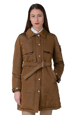 PIQUADRO Light Tech Size 40 / XXS DOWN PROOF Padded Belted Travel Trench Coat