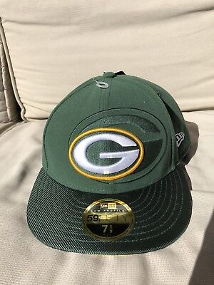 GREEN BAY PACKERS 2016 Sideline Fitted New Era 5950 Cap NFL Official Hat 7  5  3ceb21e14