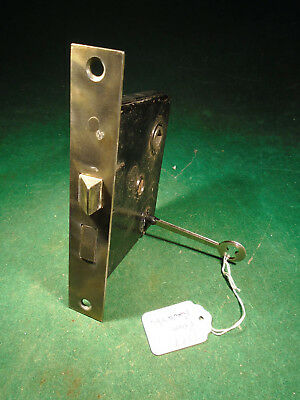 "VINTAGE PENN HARDWARE MORTISE LOCK w/KEY - 5 3/8"" FACEPLATE REBUILT (7377)"