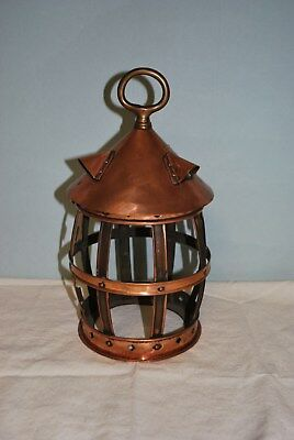 Copper Lantern Cage With Opening Top