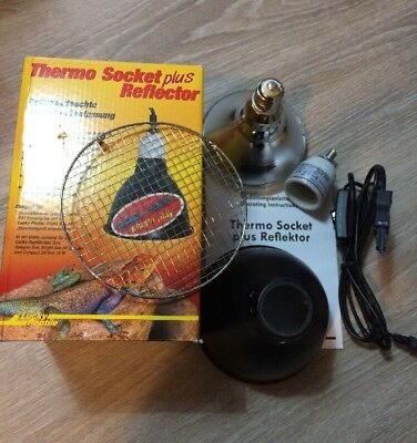 Lucky Reptile Thermo Socket Plus Plus Bright Sun HID Lampe 70W Gebraucht!