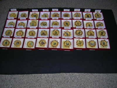 The Hummel Gold Christmas Ornament Collection of 36 by the Danbury Mint Vintage!