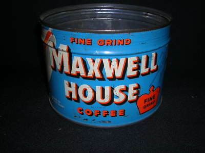 Vintage Maxwell House Fine Grind Coffee can 1 Pound Home decor True vintage lotd