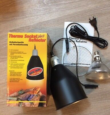 Lucky Reptile Thermo Socket plus Reflektor groß mit PNP + BSFD-70 Lampe 70W