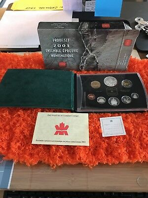 2003 Royal Canadian Mint Double Dollar Proof Set in Original Box with COA