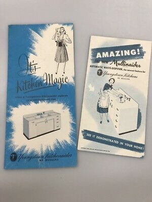 2 Vintage Youngstown Kitchens by Mullins Sink Brochure Mullinaider Disposal