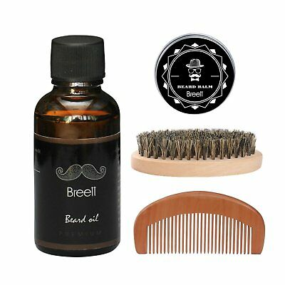Olio da Barba kit 4 pz Breett Olio Cura Barba (vitamin E oil, aloe oil) regalo
