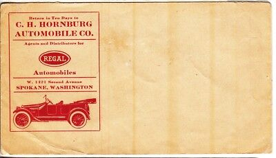 Early Regal Automobile AD Envelope.