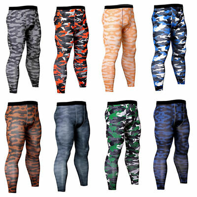 Mens Compression Tights Running Base Layers Sports Athletic Gym Long Pants Lycra