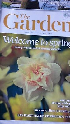 'The Garden' RHS Magazine - 3 issues  Jan 2017 to March 2017