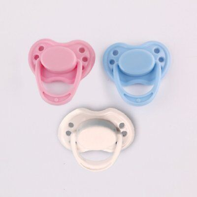 Dummy Pacifier For Reborn With Magnetic Pink Blue White Select Dolls Accessories