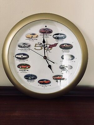 Corvette Wall Clock - 50th Anniversay