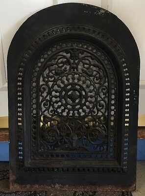 Antique Cast Iron Wall Vent Arch Dome Top Register With Address On Back Wow!!