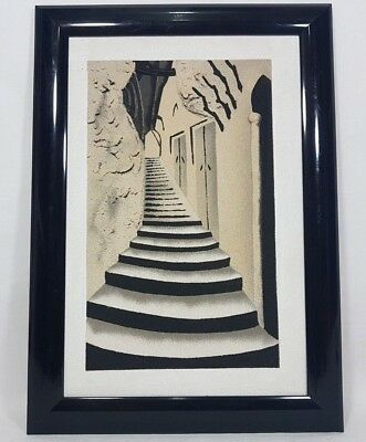 Nice Sand Painting Art framed Old Street Homes Hand made Morocco Home Decor Wall