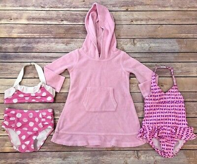 Toddler Girls Lot of 2 Swimsuits and Terry Coverup Size 3T-Carter's, Circo
