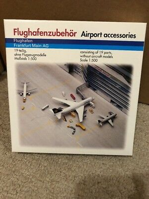 HERPA WINGS  1:500 SCALE AIRPORT ACCESSORIES  Frankfurt Inc 19 Parts BNIB 519496