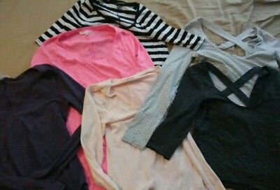 Lot Of 6 Victoria's Secret Shirts, Size Small & XS, Quarter and Long Sleeved
