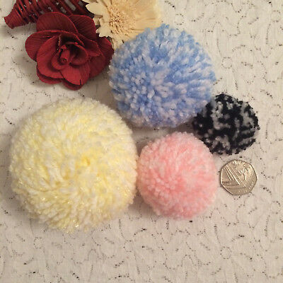 Wool Pom Poms - Any Colour , Various Sizes