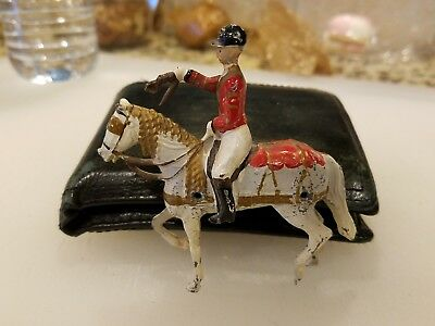 Vintage Metal Horse and Rider from England- Collectible