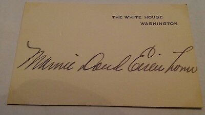 First Lady Mamie Eisenhower Signed White House Card!