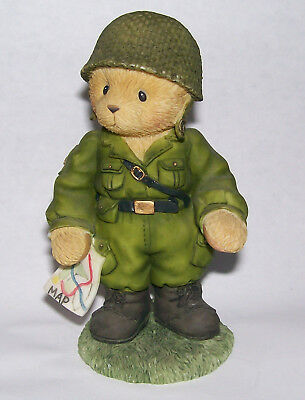 Cherished Teddies Great Friendships Make a Soldier Stand Tall 2000 Army Military