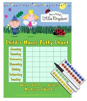 Ben And Holly Potty Training Reward Chart, Sticker & Pen, Toilet