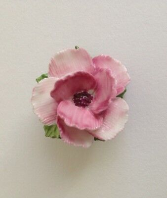 Staffordshire England Bone China Rose Pin