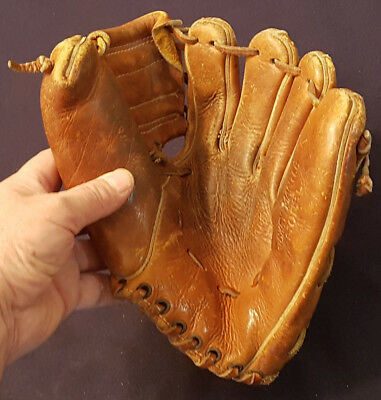 Vintage - Mickey Mantle - Model - Baseball - Glove - Indian Head Sporting Goods