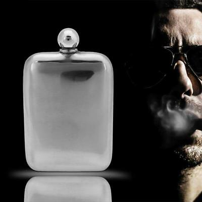 6oz Portable Stainless Steel Liquor Whiskey Wine Alcohol Hip Flask Screw Cap