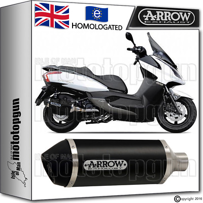 Arrow Silencer Urban Aluminium Dark Hom Kymco Downtown 300 2009 09 2010 10
