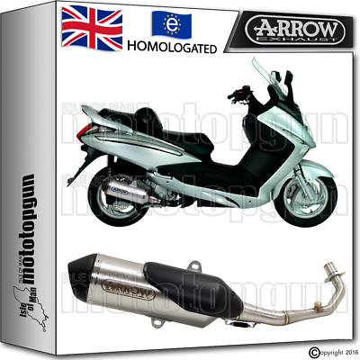 Arrow Full Exhaust System Urban Stainless Steel Hom Sym Gts 125 2015 15 2016 16