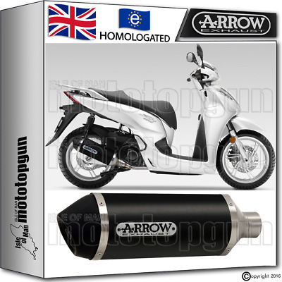 Arrow Silencer Urban Aluminium Dark Hom Honda Sh 300 2015 15 2016 16