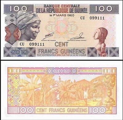 GUINEA 100 Francs, 2012, P-35b, UNC World Currency