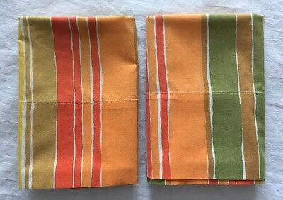 WOW! PAIR Cannon Royal Family No Iron Percale Standard Pillowcases ~ So 70s!