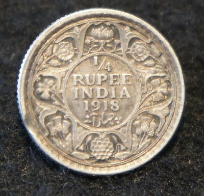 1944L India Half Rupee in UNC Condition 50% SILVER  Very NICE Collectible!