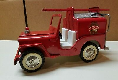 Vintage 1960's Tonka Fire Jeep Pumper Pressed Steel Truck