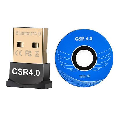 USB Bluetooth V4.0 CSR Wireless Mini Dongle Adapter For Win7 8 10 PC MAC Laptop