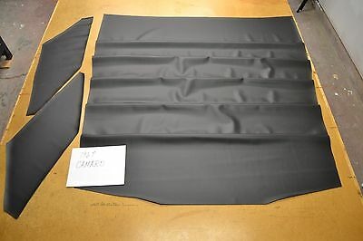 1967 67 Camaro Firebird Black Carbon Fiber Look Vinyl 5 Bow Headliner Usa Made