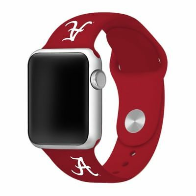 Alabama Crimson Tide - Silicone Sport Band - Fits Apple Watch - 38mm - BAND ONLY