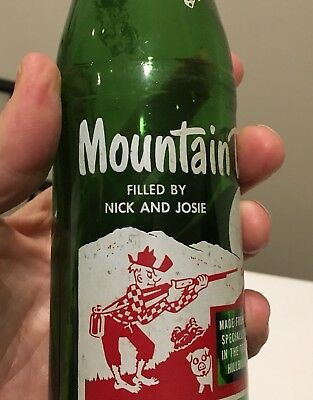 "1965 Mountain Dew 10oz Bottle ""Filled By Nick And Josie"""